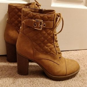 G by Guess Tan, High-Heel Ankle Boots